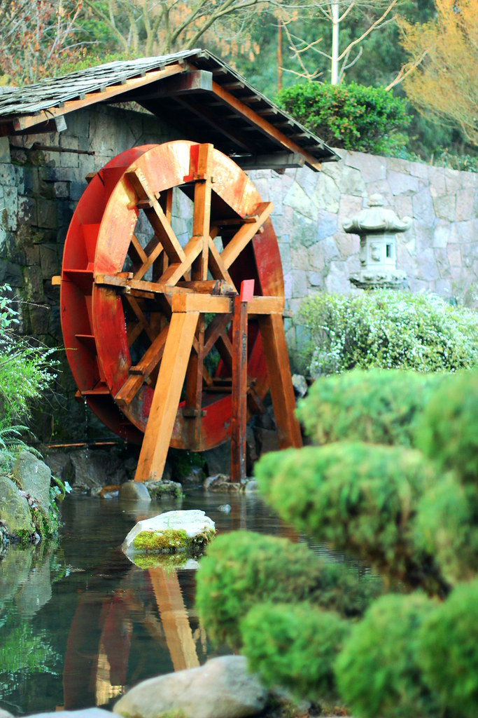 ... Water Wheel In The Japanese Garden | By Famellad