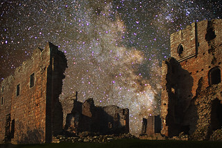 Brougham Castle and the Milky Way in Scutum | by grelf.net