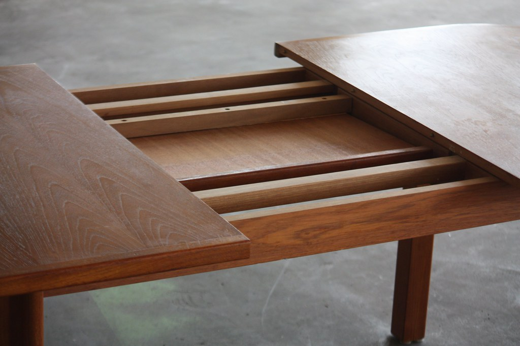 Attractive Danish Midcentury Modern Expandable Teak Dining Flickr - Danish modern dining table with leaves