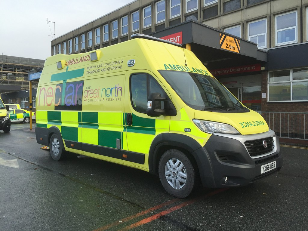 YX66UER Fiat Ducato With A Rodriguez Lopez Emergency Ambulance Conversion Operated By IAS Medical On