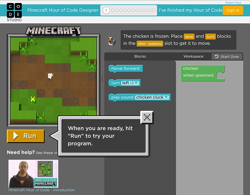 Microsoft - Minecraft - Hour of Code - chicken