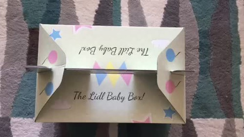 My Lidl Baby Box has arrived. Stop motion peek inside.