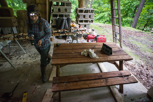 Tara Building a Picnic Table | by goingslowly