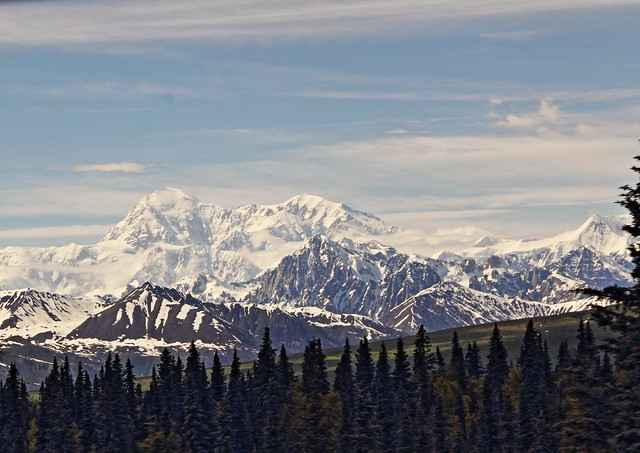 View of Mt McKinley from train 09-20140623