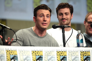 Chris Evans & Aaron Taylor-Johnson | by Gage Skidmore