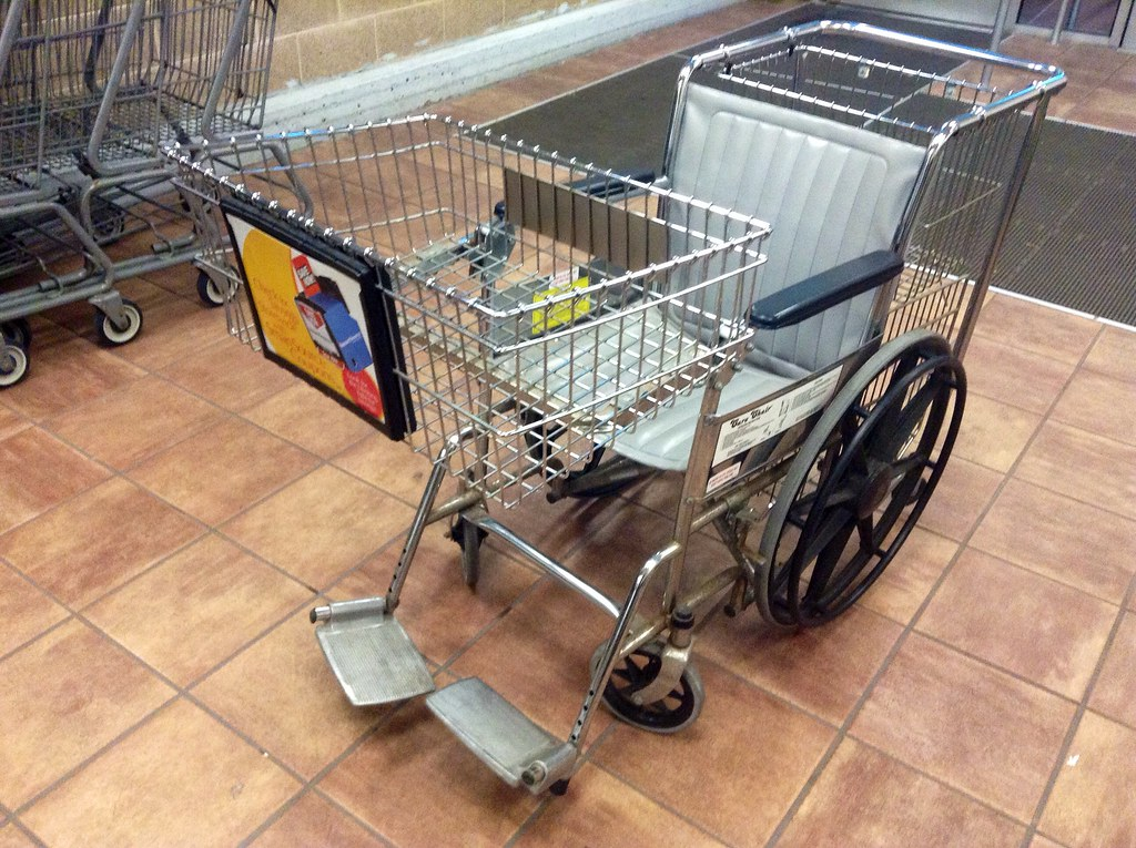 Image result for wheelchair grocery cart