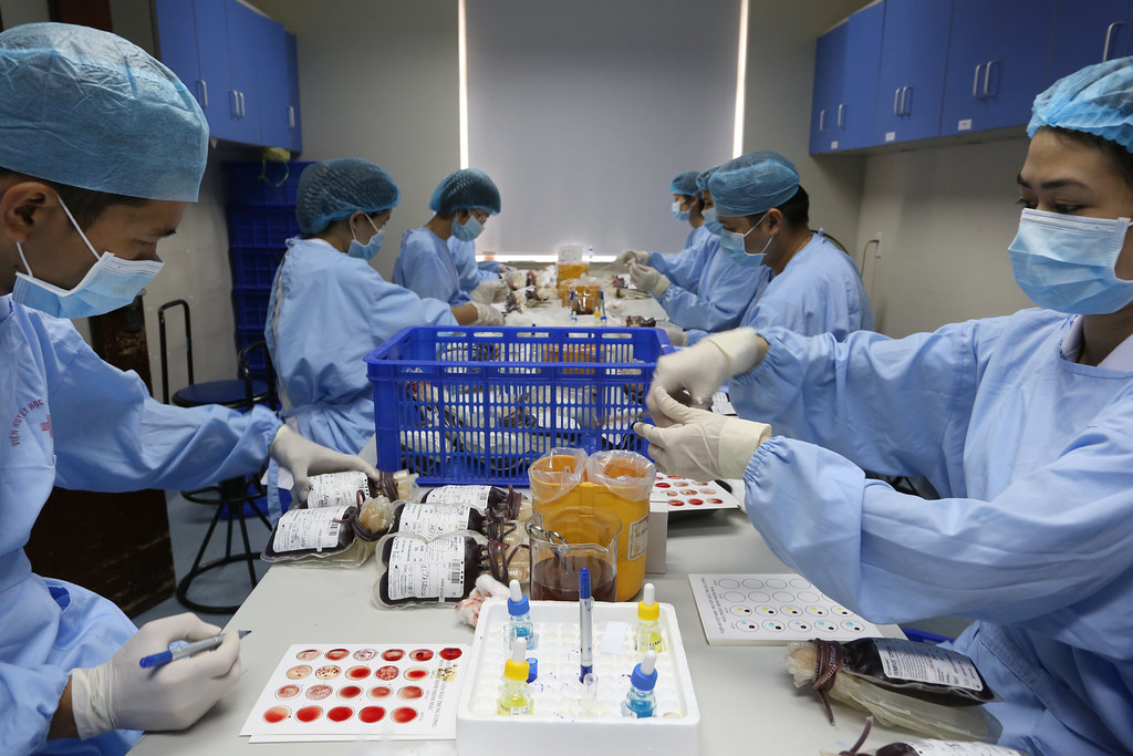 Medical Technicians Working With Bags Blood At Hanoi Blood… | Flickr