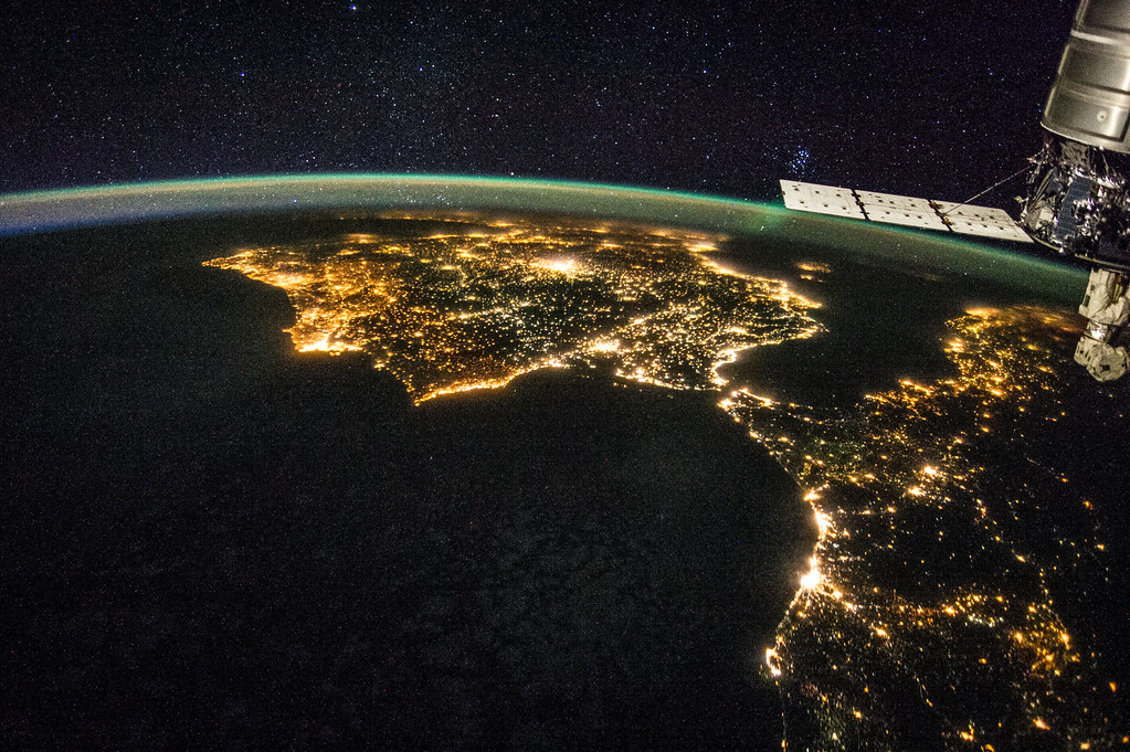 Image result for satellite image of africa night