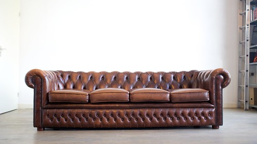 For sale: Chesterfield four seater sofa | by Sebastiaan ter Burg