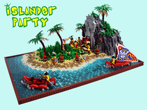 Islander party the well known islanders are having a party flickr - Ile pirate lego ...
