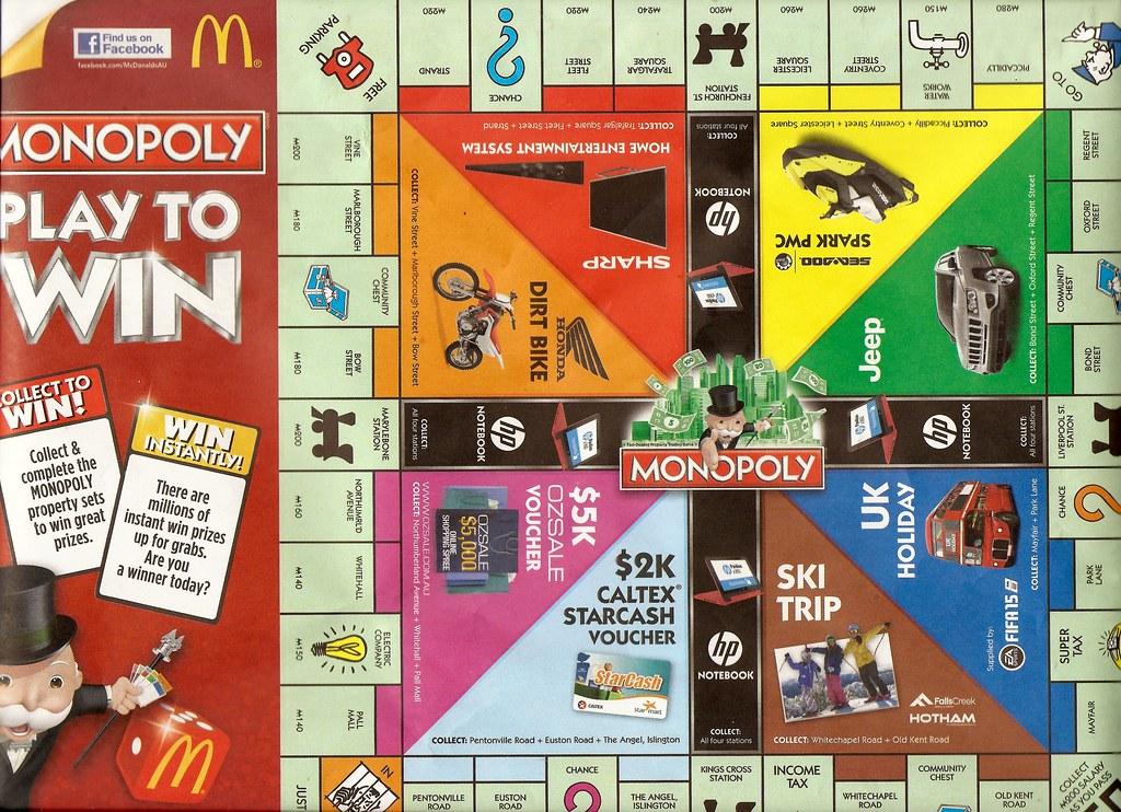 Instant win maccas monopoly australia