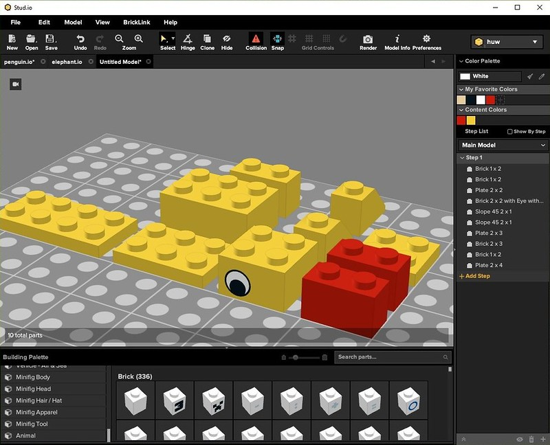 Building with Stud io | Brickset: LEGO set guide and database