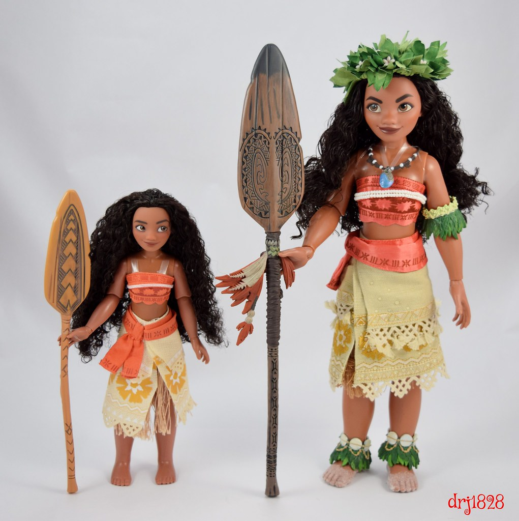 classic vs limited edition moana dolls standing side by flickr