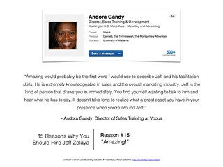 Andora Gandy Reviews of Social Sales Trainer: Jeff Zelaya | by Jeff Zelaya