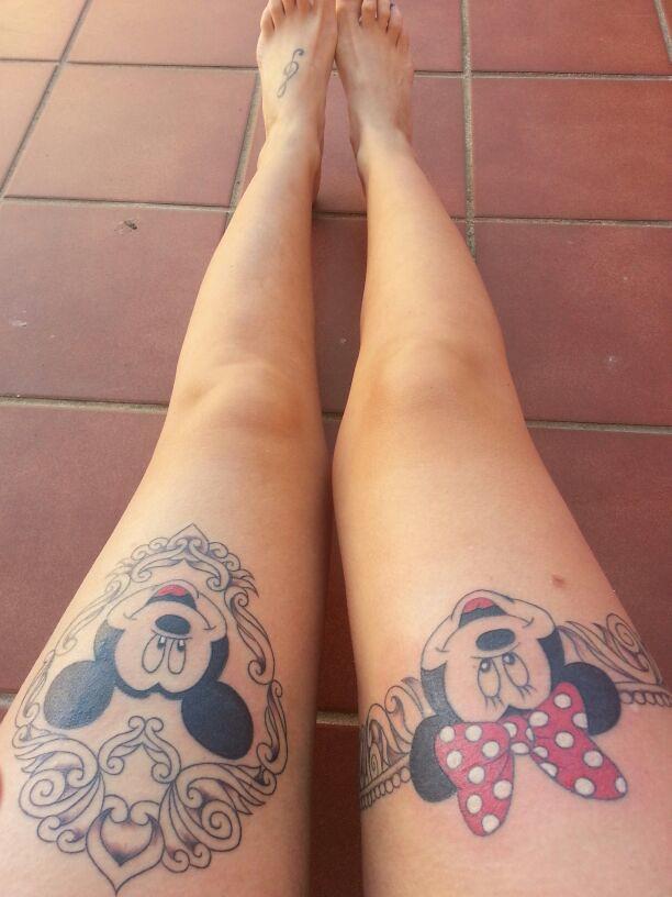 Tatuaje De Michey Y Minie Mouse Marga Robles Martín Flickr