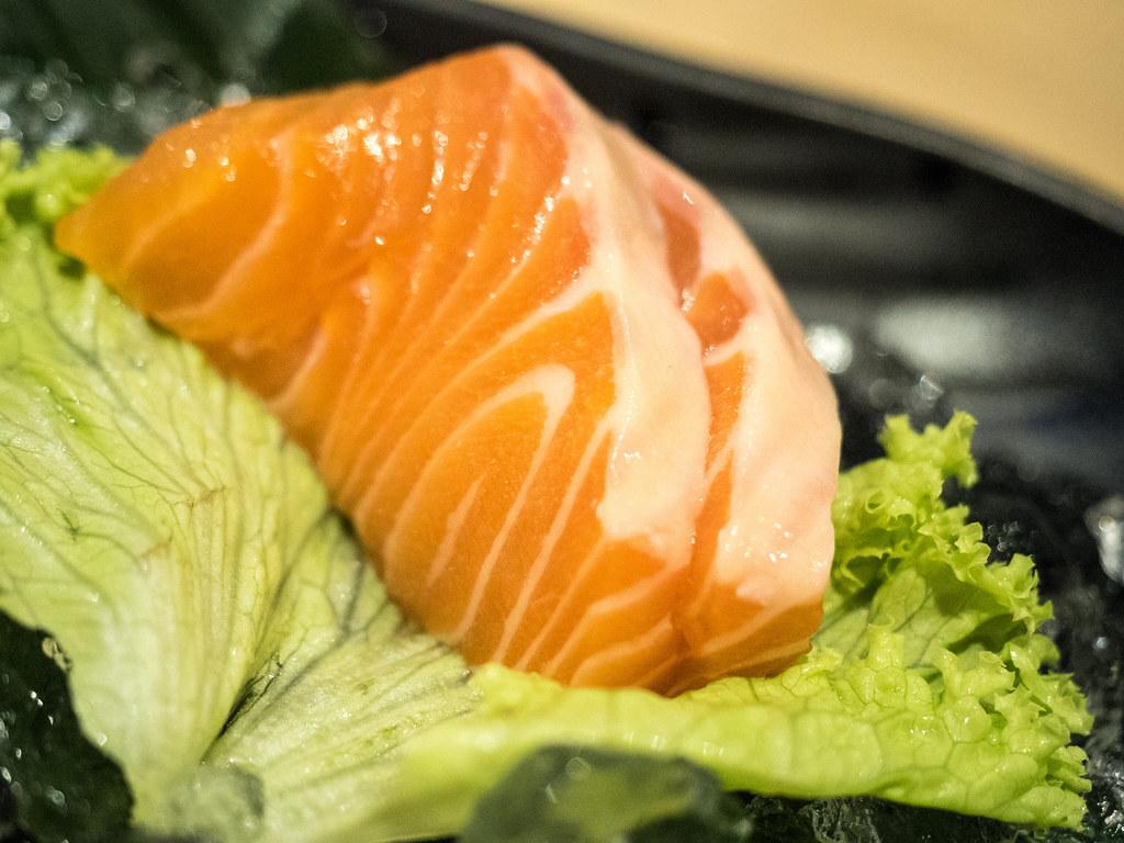 Salmon Sashimi at Aoki-Tei