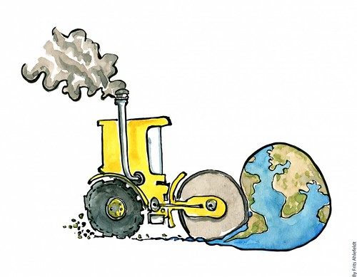 Earth-flat-steamroller-yellow | by Frits Ahlefeldt - FritsAhlefeldt.com