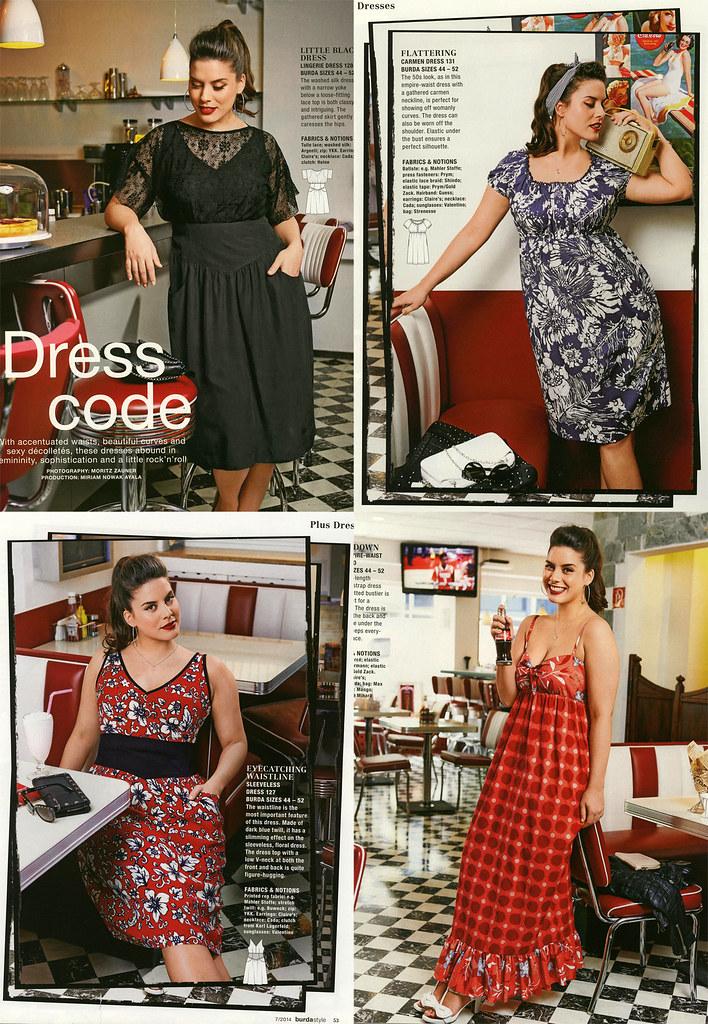 Burda July 2014 Plus Size Dresses Jamiedsc Flickr