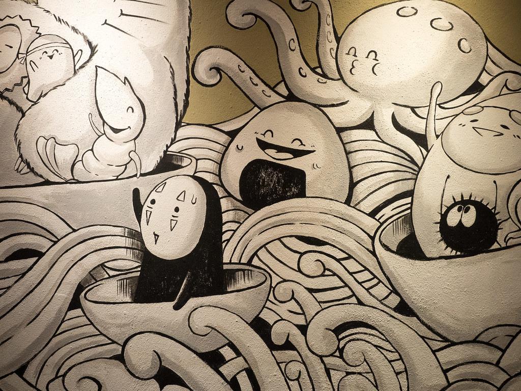 No-Face (Kaonashi) and friends at Aoki-Tei Japanese Restaurant (青木亭放题)