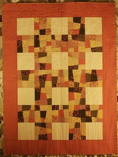Crazy nine patch lattice quilt Erinn Shirley Flickr