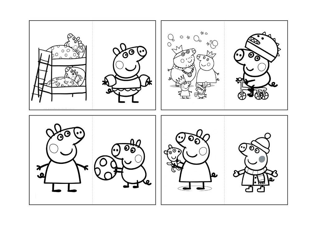 Arte Revista Colorir Peppa Pig Personalizado Desenhos Do Flickr