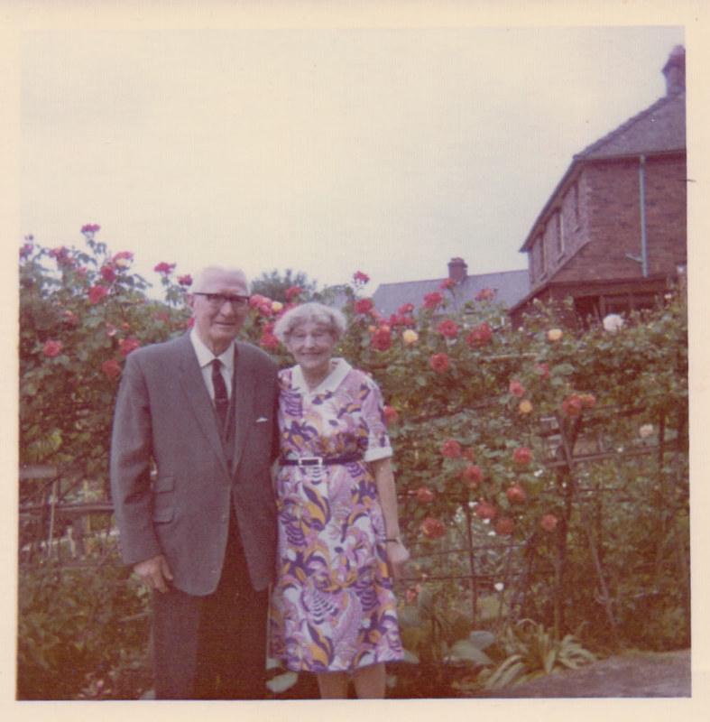 Bert and Madge Elkins on their Golden Wedding anniversary, 1973