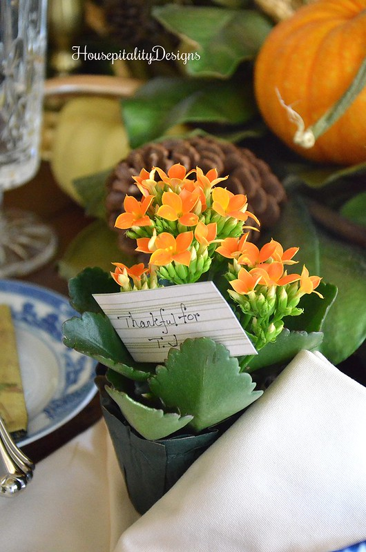 Place card in Flower Pot - Housepitality Designs