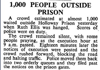 13th July 1955 - Ruth Ellis hanged at Holloway Prison | by Bradford Timeline