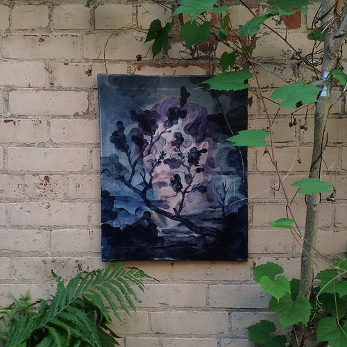 #giordanoBRUNO #REDACTED #inthecourtyard #painting #inthegarden #palimpsest #martyr #canvas #sumac #portrait #landscape #brickwall #canadianpainting #canadianart #contemporaryart #contemporarypainting #torontoart #toronto #parkdale #kunst #kunstKINO #inth | by michael TOKE
