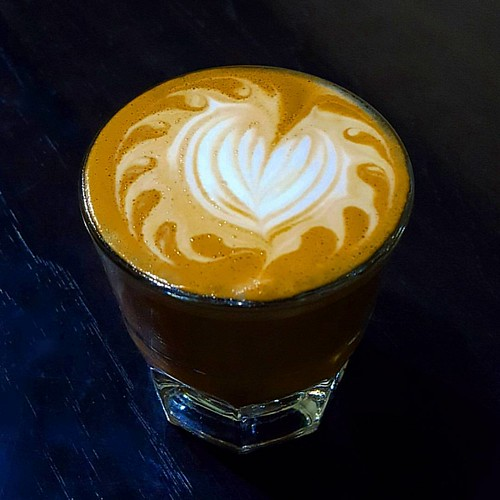 A yummy cortado for you on this chilly, chilly day.  ❄☕❤