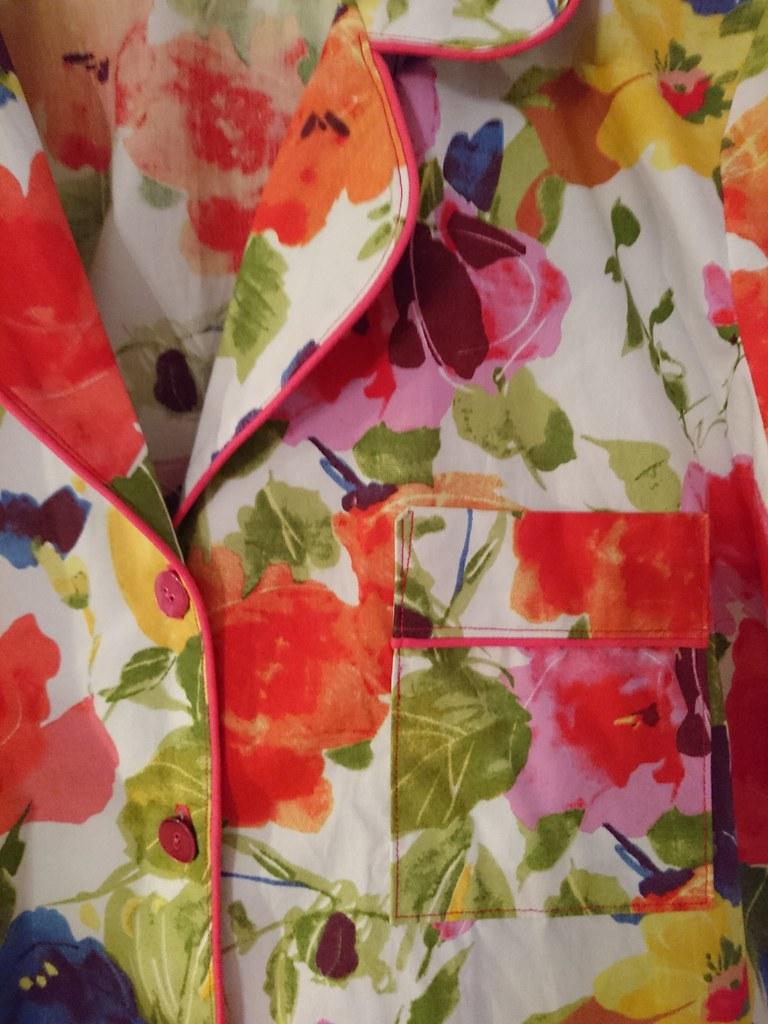 Closet Case Patterns Carolyn pajamas pocket and collar