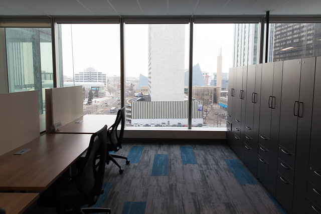 City offices in the new Edmonton Tower