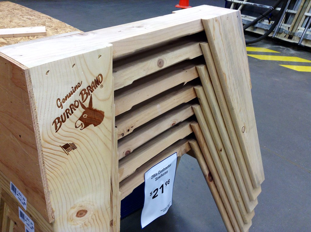 superior Burro Brand Sawhorses Part - 2: ... Burro Brand Sawhorses, 9-2014 at Loweu0027s, by Mike Mozart of  TheToyChannel and