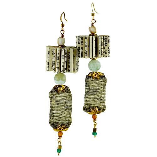 Valentina Handmade Folded Book Earrings by Crizu