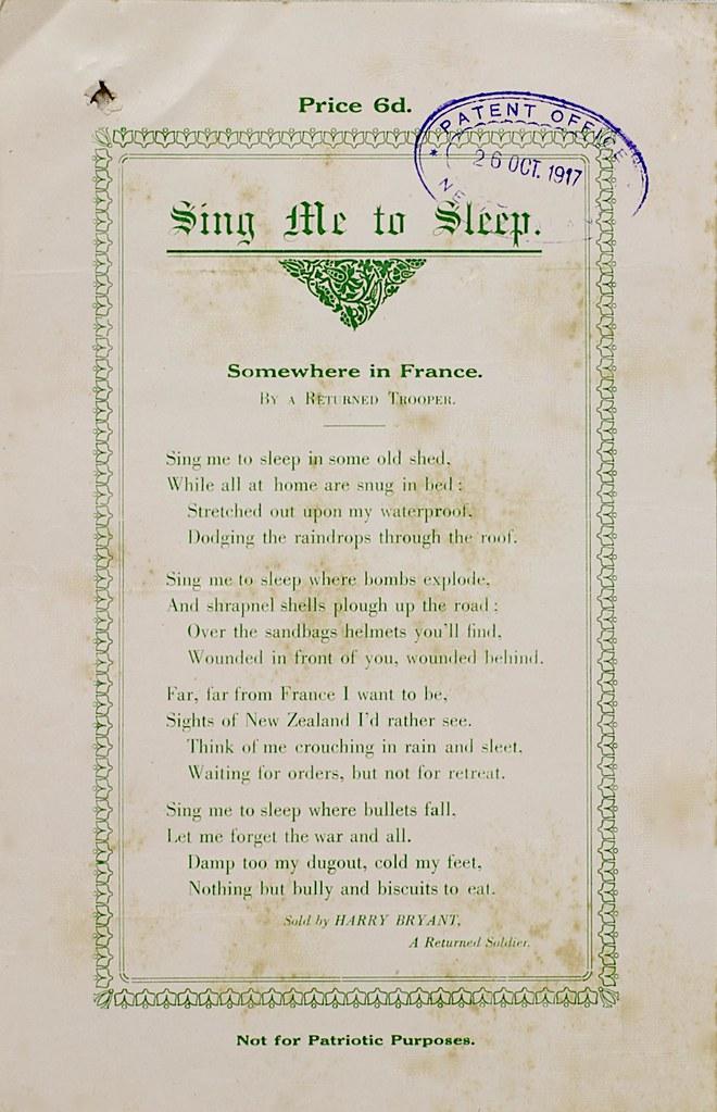 Poem by a returned World War I Soldier \
