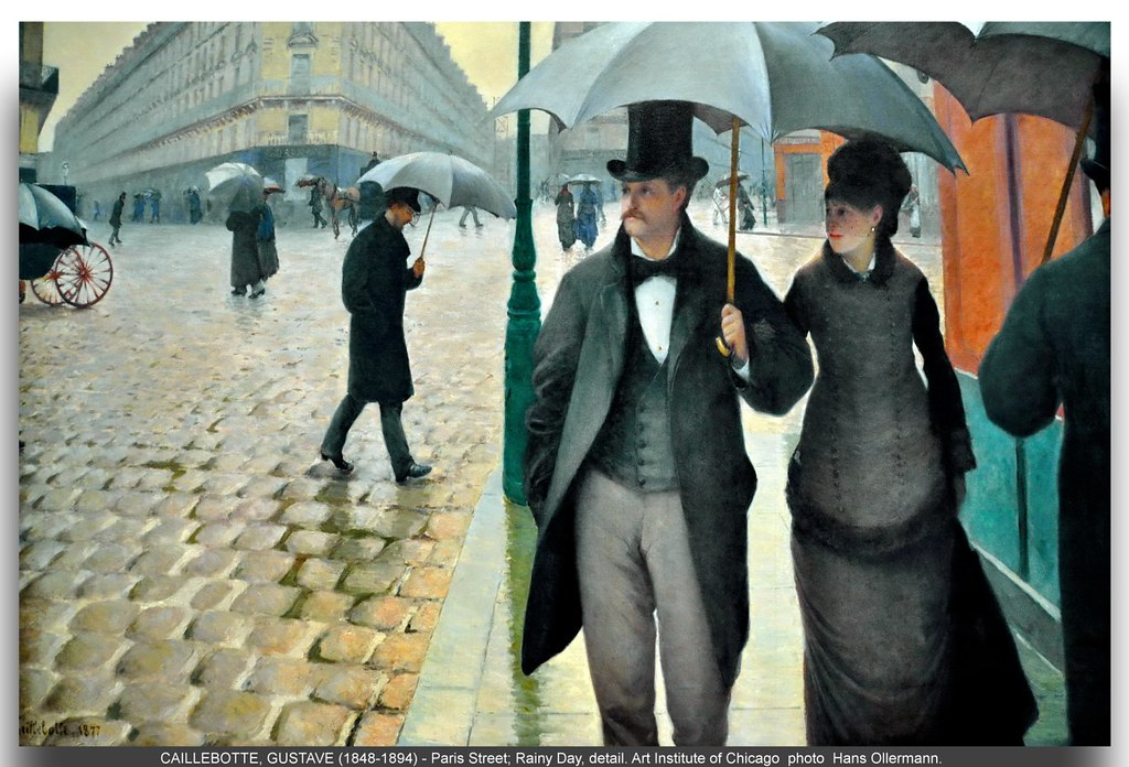 caillebotte gustave french 1848 1894 paris street r flickr