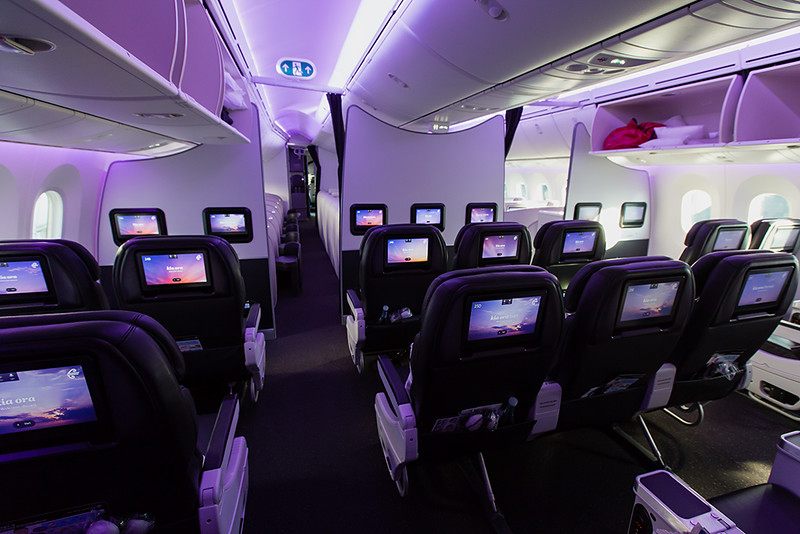 Air New Zealand Boeing 787-9 Premium Economy cabin