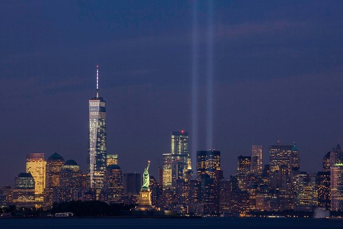 September 11th Tribute in Light from Bayonne, New Jersey | by Anthony Quintano