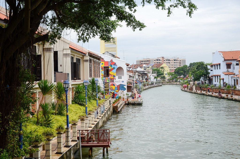 A view of Malacca River.