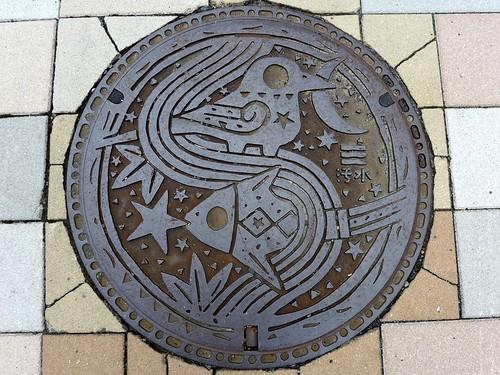 Hiroshima city Hiroshima pref, manhole cover 9 (広島県広島市のマンホール9)