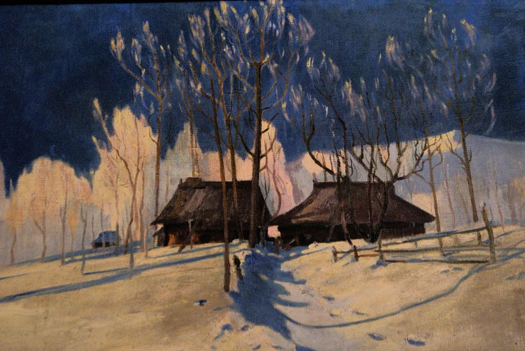 Paysage de montagne sous le pinceau d'un artiste de la Mloda Polska. Musée Oksza à Zakopane.