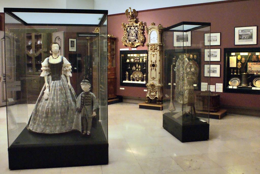 Salle d'exposition dans le Musée national de Budapest.