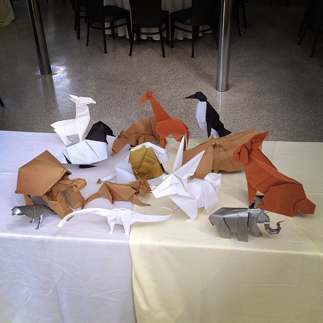 The Origami Centerpieces Are Ready For The Nienafield Wed Flickr