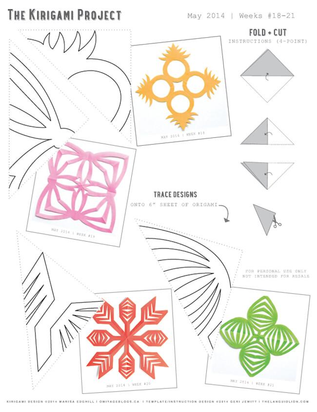 Kirigami Templates | Kirigami Templates Created By Marisa Edghill Of Omiyage An Flickr