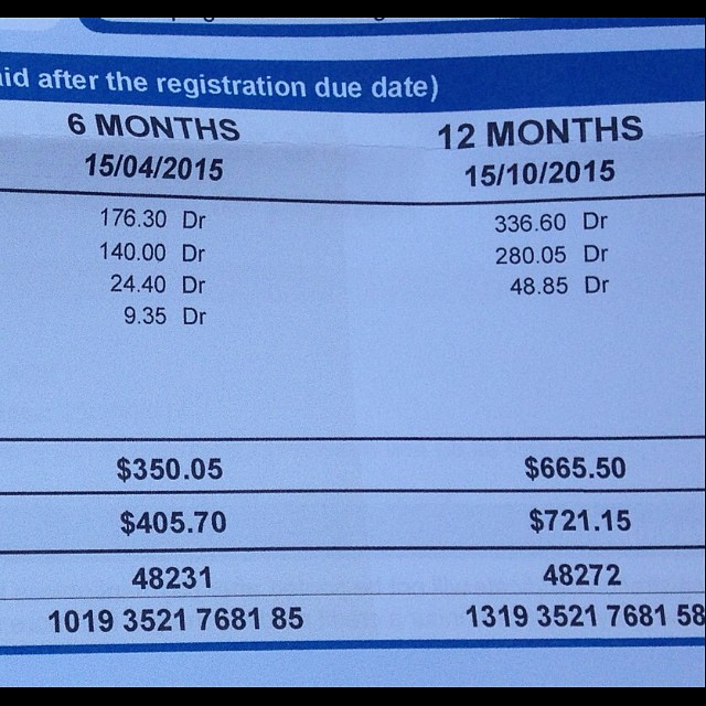 Qld Vehicle Rego For A 4 Cylinder Vehicle Aparently Benifiting From The Family Rego Freeze