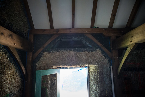 Nook in Eaves of Timber Frame Strawbale House | by goingslowly