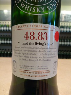 "SMWS 48.83 - ""... and the living's easy"""