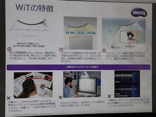 ベンキューLEDデスクライト WiT Eye-care