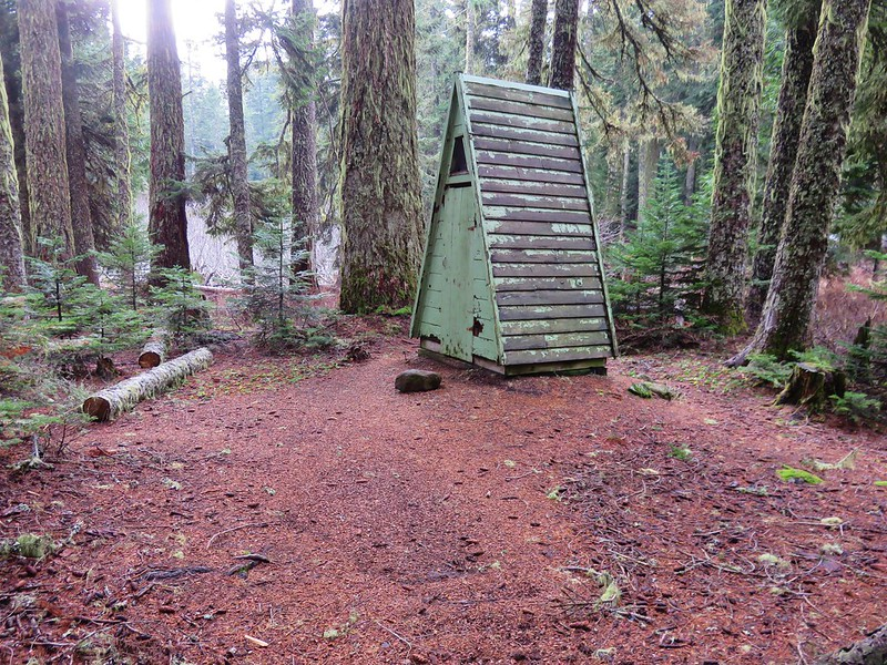 Outhouse at the Rainy Lake Campground