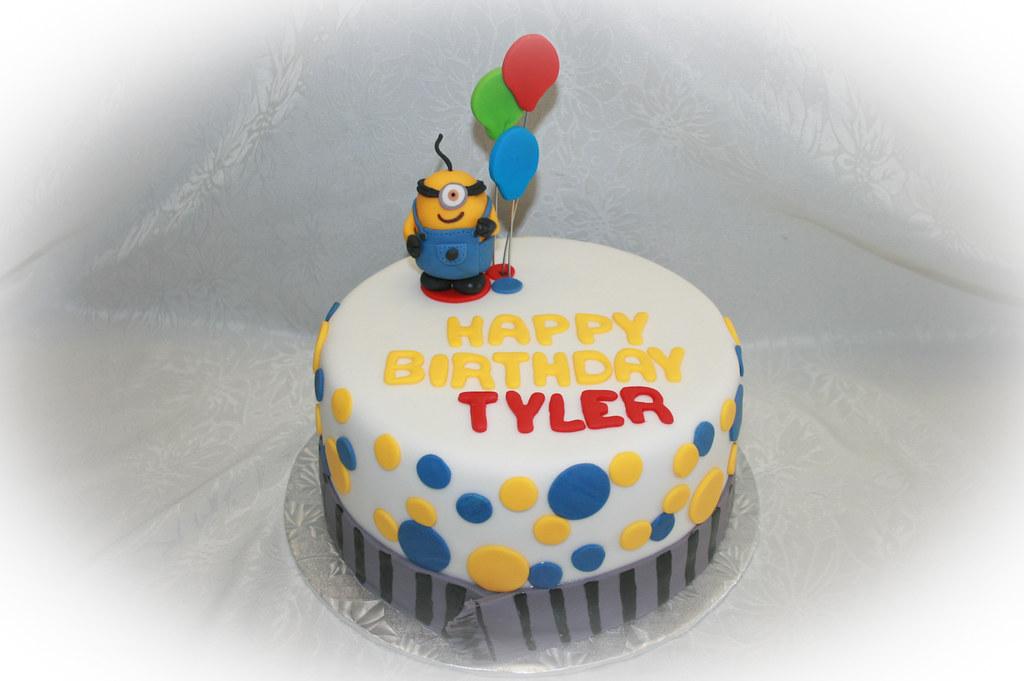 Cool Minion Birthday Cake Red Velvet Cake Filled With Vanilla S Flickr Funny Birthday Cards Online Unhofree Goldxyz